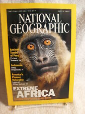 NATIONAL GEOGRAPHIC MAGAZINE MARCH 2001 Extreme AFRICA TOMBS OF PERU