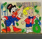14x 11 Black Light Scrooge Supreme Richie Rich Painting Acrylic Wall Pop Art