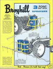 Farm Equipment Brochure - Broyhill - 814 et al - 3 pt Sprayer - 1968 (F4046)