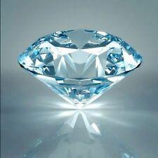 FOUR pcs - 0.5 Ct Russian Lab Sim Diamond BRILLIANT CUT (Aqua) 5 mm