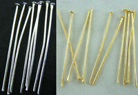 Silver Plated Gold Plated Head Pins Needles Jewelry Findings 6 Sizes Wholesale