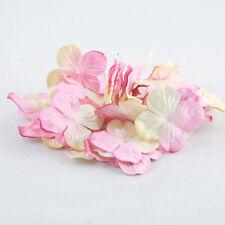 Cream And Pink Hydrangea Paper Flowers Crafts Card Making Wedding Pbc119