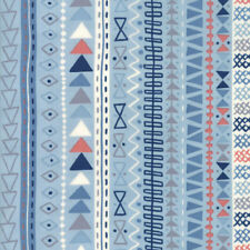 Moda Fabric Wild Free Tribal Stripe Sky - Per 1/4 Metre