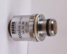 Zeiss Plan-NEOFLUAR 100x /1.30 Oil Microscope Objective w/ IRIS