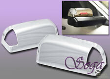 FOR 09-18 DODGE RAM 1500 2500 3500 CHROME MIRROR TOPHALF COVERS TOWING W/SIGNAL