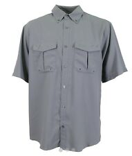 AFTCO SHORT SLEEVE RANGLE TECH SHIRT STEEL/GRAY SIZE SMALL