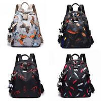 2019 Women's Oxford Backpack Casual Waterproof Travel Butterfly Shoulder Bag