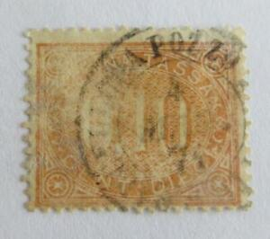Italy 1869 Postage Due 10c used