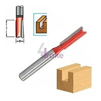 """½"""" Shank Tungsten Carbide Twin Blade Straight Cutting Router bits–Imperial Sizes"""