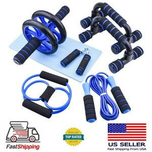 US Ab Roller Wheel Workout Equipment Set For Abdominal Exercise Home Gym Fitness