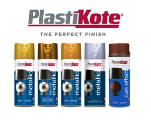 PlastiKote Metallic Spray Paint 400ml - ALL COLOURS - Rich Metallic Finish
