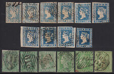INDIA 1854 selection of 1/2 & 2 A Used Shades, Types! Huge cat! Scarce & Rare!