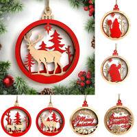 Eg _ Natale in Legno Pupazzo di Neve Renna da Parete Ciondolo Ornamenti