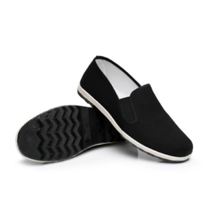 Martial Art Kung Fu Ninja Chinese Shoes Slip On RUBBER Sole Canvas Slippers new