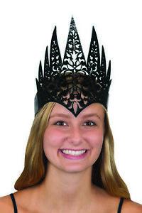 Foam Womens Black Evil Crown Queen Princess Headpiece Medieval Costume Accessory