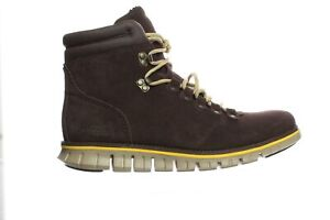 Cole Haan Mens Zerogrand Hiker Suede/Lemon Ankle Boots Size 8.5