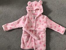 Primark Early Days corazón rosa bebé niña bata con orejas - 6-12 meses