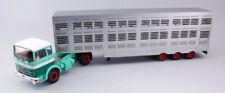IXO MODEL TTR008 MERCEDES LPS 1632 GREEN/BEIGE 1970 COW TRANSPORTER 1:43