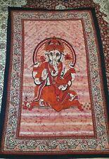 Ganesh Ganesha Bedspread Hindu Large Throw Wall Hanging Tapestry Ethnic Decor (o