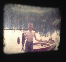 VINTAGE 1956 HOME MOVIE FISHING TRIP TO CANADA WOOD BOAT FISH WATER SKIING RARE!