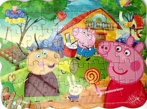 Peppa Pig Family 40-Piece Drawing Jigsaw Puzzle Best Gift for Kids -07