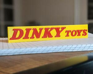 DINKY TOYS self standing logo display