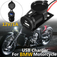 12V 1A Waterproof USB Charging Adapter Socket Charger For BMW Motorcycle W