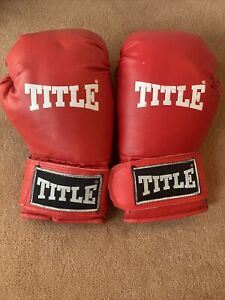 Title Red Boxing Gloves