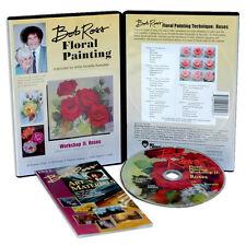 BOB ROSS - FLORAL PAINTING Workshop PEINTURE DE FLEUR ROSES ROSES DVD neuf
