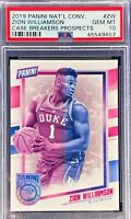Zion Williamson 2019 Panini The National VIP Case Breaker Rookie PSA 10 Gem Mint