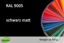 PULVERLACK RAL 9005 tiefschwarz matt 1 KG Pulverbeschichten Powder Coating Paint