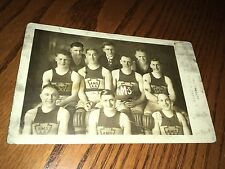 Altoona Machine Shops Basketball Team PRR Altoona Pa. Blair County RPPC Postcard