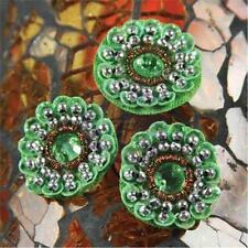 Prima Marketing DYNASTY - Jade Bead Gemstome FLOWER CENTER 10pc 536091