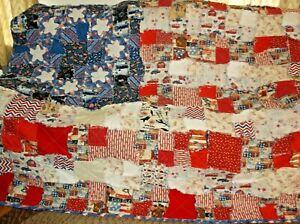 American Flag Rag Quilt.. Show your Patriotic Pride. All Cotton Quilt