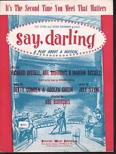 It's The Second Time You Meet That Matters 1958 Say Darling Sheet Music