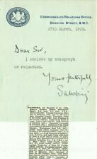 More details for 1893-1972 marquess of salisbury, 1952 note, originally signed!