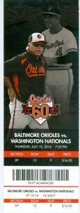 2014 Orioles vs Nationals Ticket: Steve Pearce &