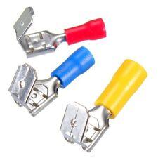 Crimp Stecker Huckepack Set 6,3 blau gelb rot 100 Stück 0,5 - 6,0 mm² Kabelschuh