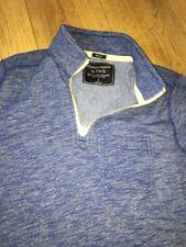 Da Uomo Abercrombie Felpa Collo musclezip COMFEE maglione blu Grande