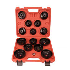 """Toolrock 15pcs Oil Filter Wrench Removal Tools Set Cup Type 3/8"""" or 1/2"""" Drive"""