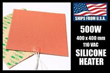 400 x 400mm Industrial Silicone Heater, 500W/110V for 3D Printer Heated Bed