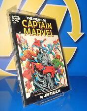 novela grafica THE DEATH OF CAPTAIN MARVEL buen estado MARVEL COMICS