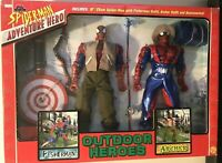Spider-Man Adventure Hero OUTDOOR HEROES 2 pack Action Figure Toy Biz NIB