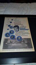 Hal March Gold Record Show Rare Original 1968 T.V.  Promo Poster Ad Framed!