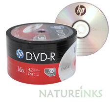 100 Genuine HP Silver top blank NON printable DVD-R 16x 4.7GB Shrink wrap