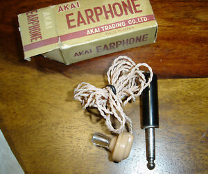 AKAI Earphone Ohrhörer für Terecorder - Rare Top Zustand in OVP