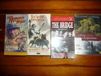 Scipio Africanus /YOUNG INDIANA JONES ,THE BRIDGE 1959 VHS OTHER DEAL LOT