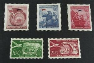 nystamps Yugoslavia Stamp # C30//C52 Mint OG H $23   L23y1278