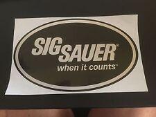 Original Sig Sauer Aufkleber When it counts Sticker Sportschiessen NEU