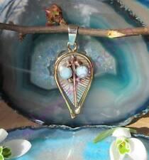Gesicht Augen aus Larimar blau Stein d Sternzeichen Schütze Anhänger Silber 925
